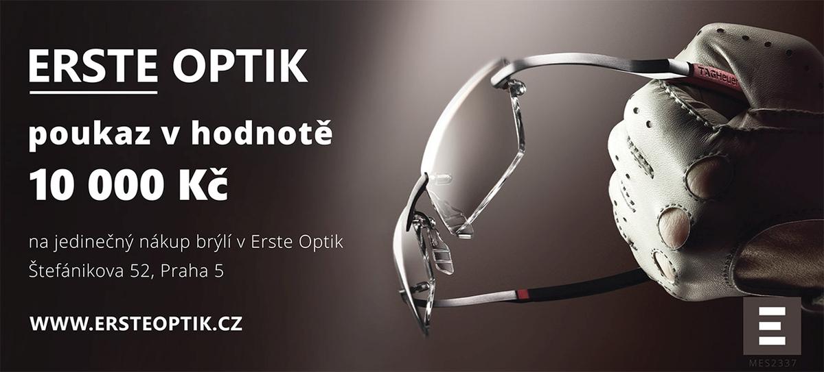 10. a 11. cena – Voucher na nákup brýlí v Erste Optik v hodnotě 10 000 Kč