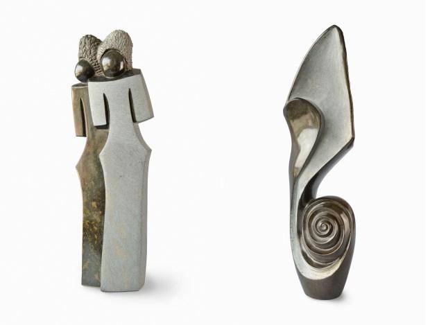 6. a 7. cena – Kamenná africká socha v hodnotě 22 000 Kč