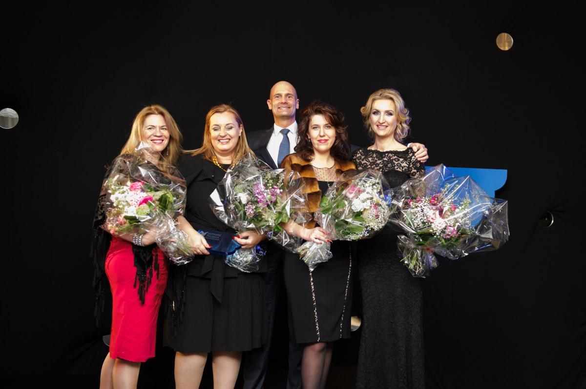 Liz Moscorp, Dagmar Grossmann, Vladimir Petak, Anna Serejkina, Antonia Lukacinova-founder Sapphire Pegasus Award