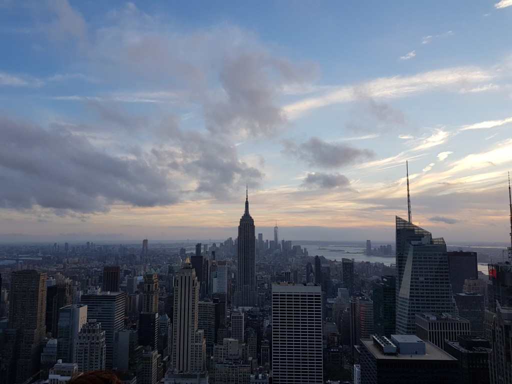 tramonto a New York dal top of the rock