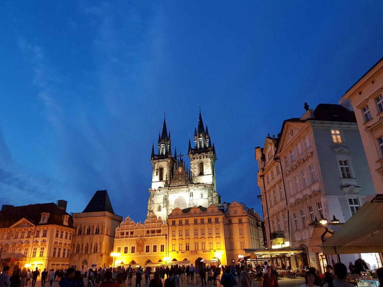 Città Vecchia Praga di notte