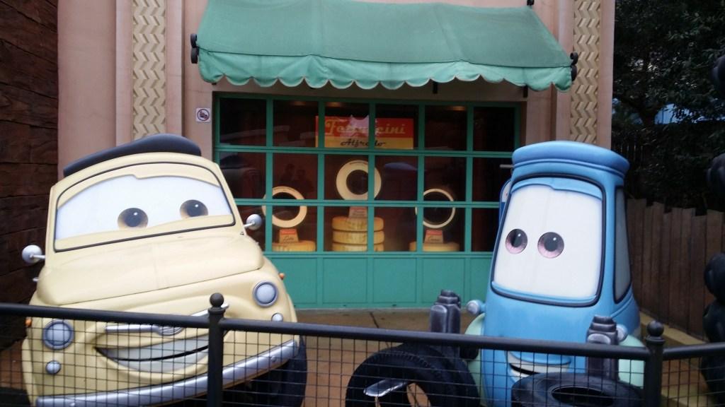 L'area di Cars ai Walt Disney Studios