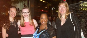 L-R: Rosana, Emma, Debbie.  You already know the other girl...