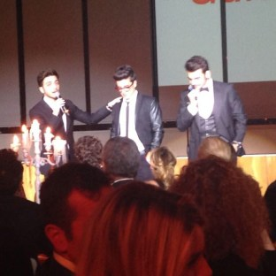 @ariannacaprai Il Volo performs at the Gala Telethon - Rome 2014