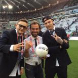 "Radio24 ""Call to donate"" message - benefit soccer game - Turin, Italy"