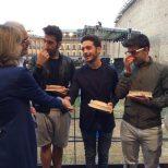 Comune di Macerata4 Il Volo and commune Officials - presnetation - miniatures of Sferisterio Theater venue - August, 2015