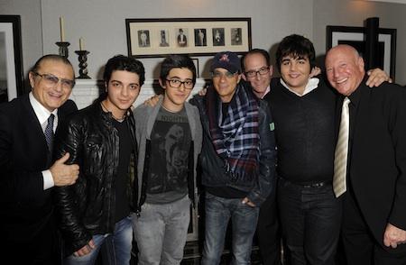 L to R - Tony Renis, Gianluca, Piero, Jimmy Lovine, Ron Fair, Ignazio, Steve Leber