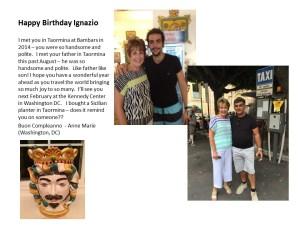 Ignazio Birthday Card