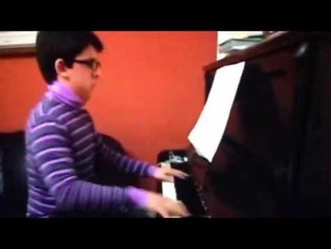 Piero at piano