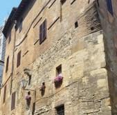 san gimignano flowers building