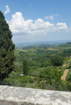 san gimignano view and ledge