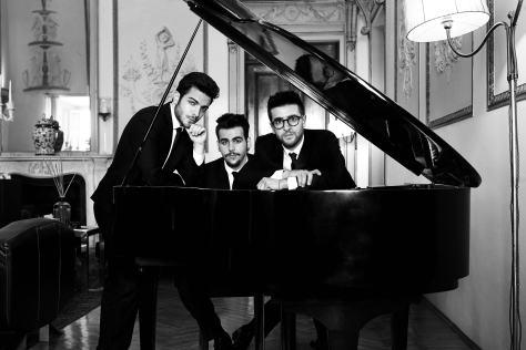 Il Volo's (l to r) Gianluca Ginoble, Ignazio Boschetto, and Piero Barone (photo courtesy of Shore Fire Media)