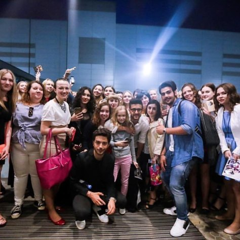 with the fans