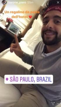 piero hotel Notte Magica Tour - Piero - hotel room - Sao Paolo Brasilia 9/19-24/17