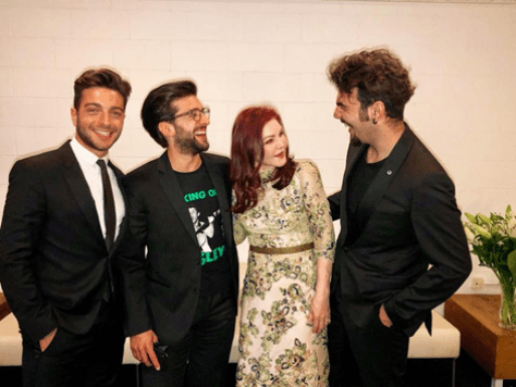 IL VOLO and Priscilla laughing