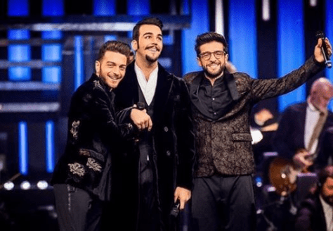 Left to right: Gianluca, Ignazio and Piero taking a bow after their performance