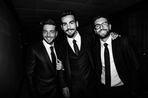 Left to right: Gianluca, Ignazio and Piero in suits