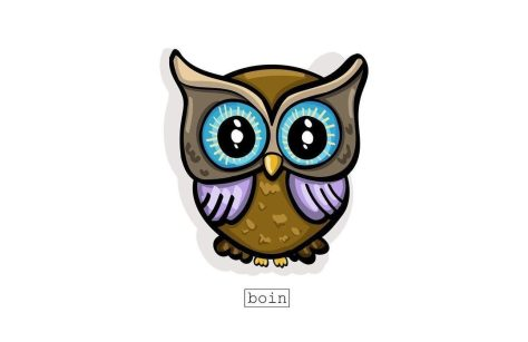 Color illustration of owl BOIN