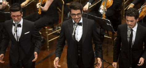 Il Volo performing for the Italian senate