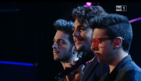 Left to right: Gianluca, Ignazio and Piero singing