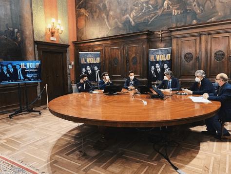 Ignazio, Piero and Gianluca with the mayor of Verona