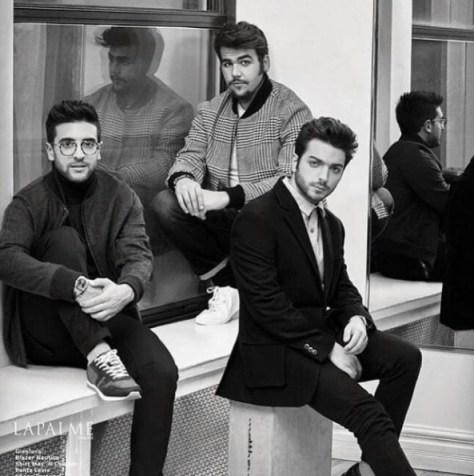 Black and white photo of Piero, Ignazio and Gianluca