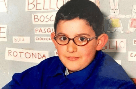 Young PIero in blue sweater