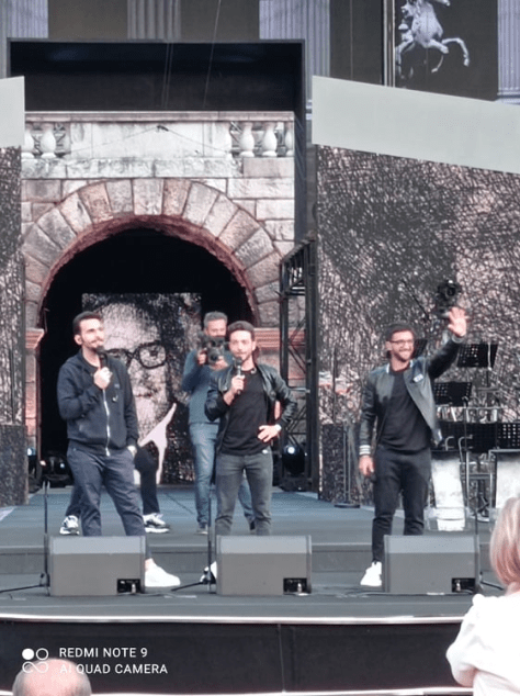 IL VOLO talking with audience and TG before the concert
