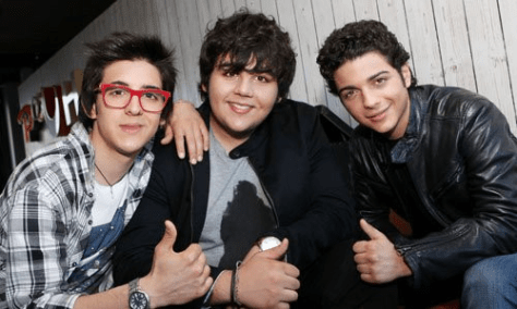 Left to right: A young Piero, Ignazio and Gianluca