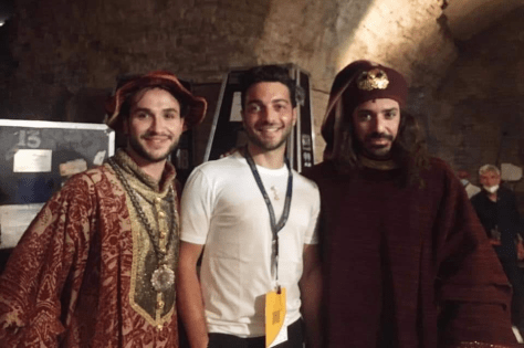 Gianluca with Dave Monaco and another Rigoletto performer