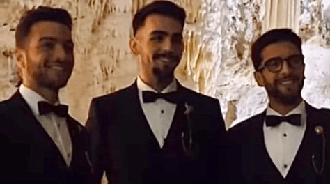 IL VOLO in tuxedos in the Frasassi Caves