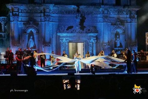 Dancers performing on the Notte della Taranta stage