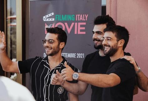 eft to right: Gianluca, Piero and Ignazio in Dolce & Gabbana