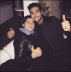 Nina and brother Ignazio giving a thumbs up