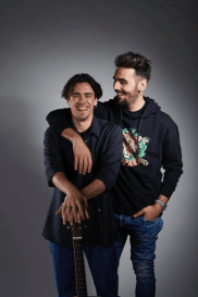 Nico with Ignazio both smiling
