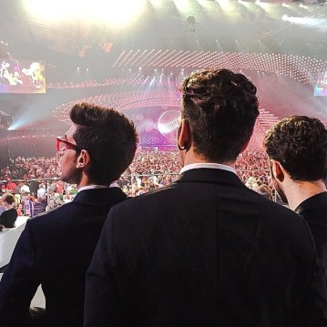 @ilvolomusic Il Volo and the audience - eurovision - 2015