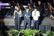 Philly Sara; Lydka2 Piero looks through his Keepsake Book from the Flight Crew - Palermo Concert August 26/27 - 2015