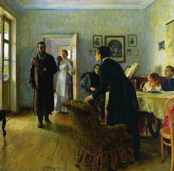 Не ждали. Илья Репин. Шедевр русской живописи, картина ...