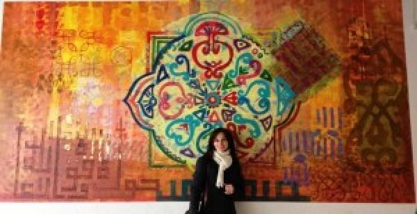 """Ilze Rudzite vægmaleri """"Bazar""""Projekt 2011"""