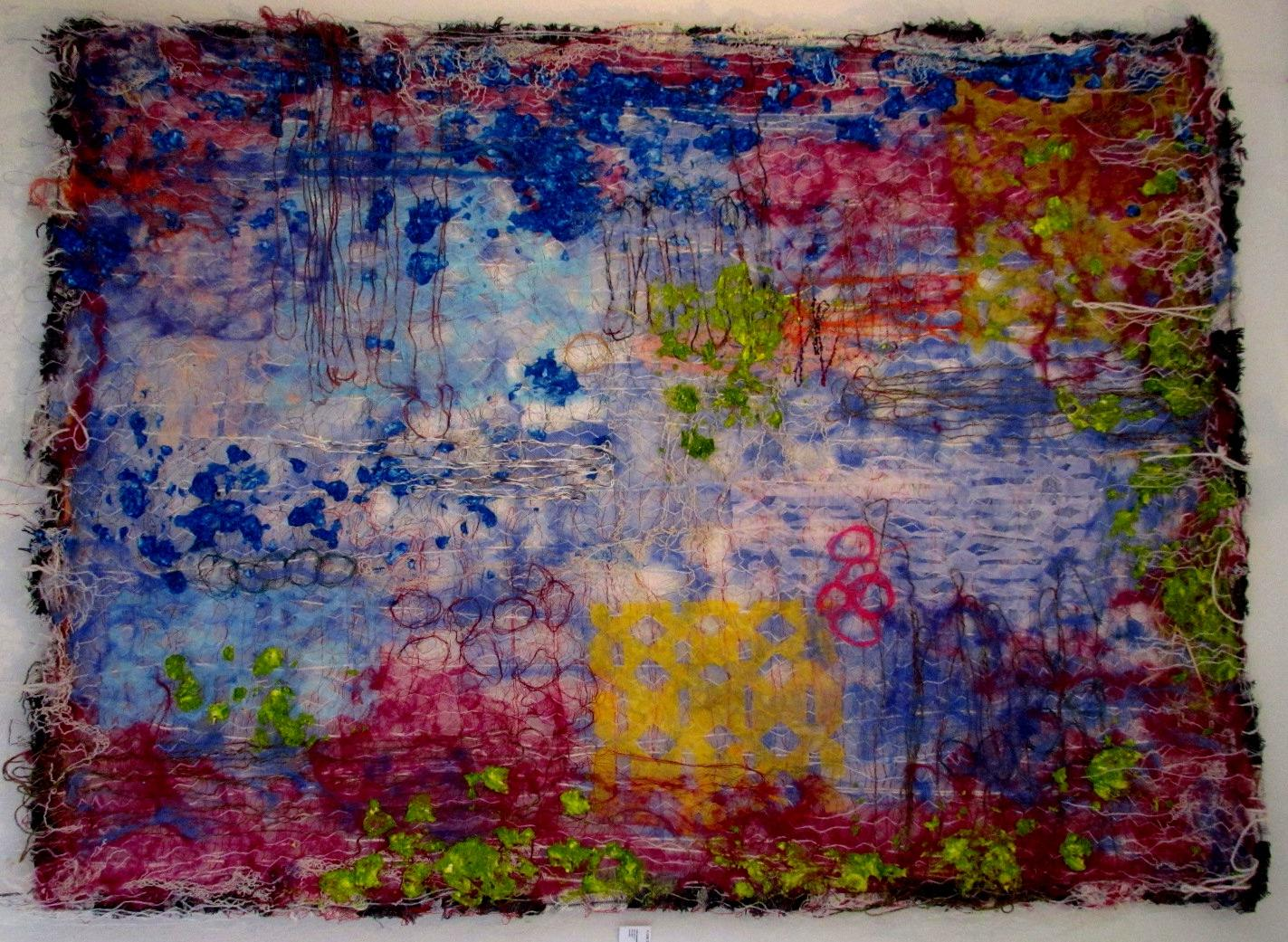 """Tekstil collage """"Lilla Eventyr"""""""