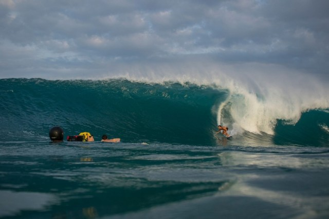 Greg Long on last month's Puerto swell. Big, but not Puerto big.