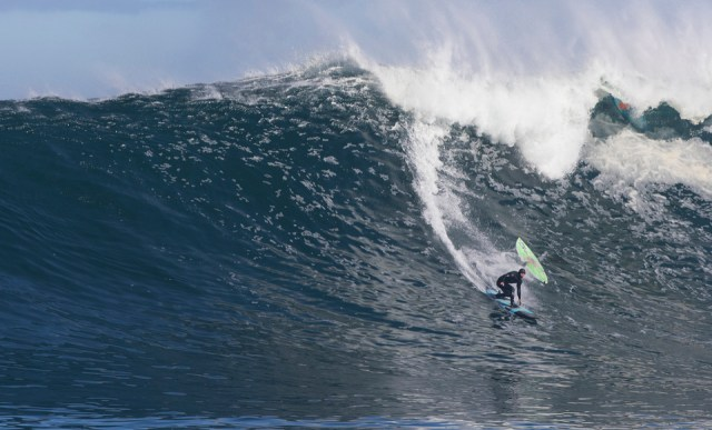 Jeremy Johnson was out at first light and waited more than three hours for this wave - traffic is a given.