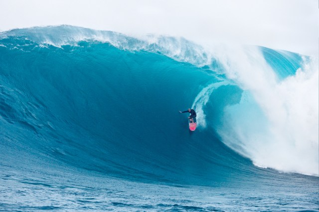 Shane Dorian at Jaws. Though not a competitor on the BWT, Dorian's a staple when Pe'ahi jacks.
