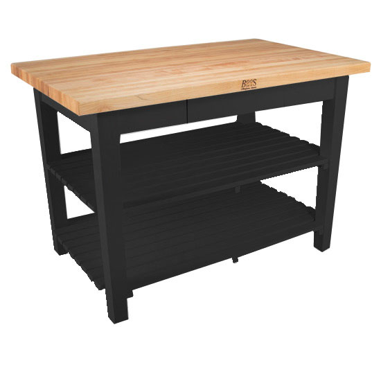 Kitchen Islands Classic Country Work Table Shelves Deep