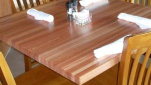 Table Tops Hard Maple Rectangular Butcher Block Table