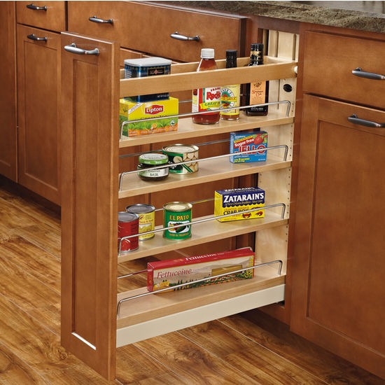Pull Out Organizers Soft Close Slides Kitchen Base Cabinet