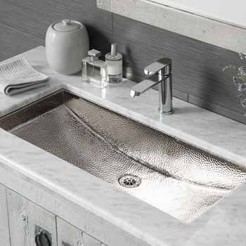 trough undermount or drop in 30 36 wide square bathroom sink by native trails kitchensource com