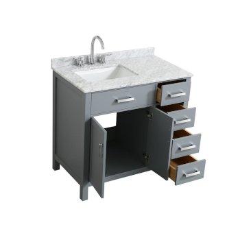 left or right offset sink vanity set