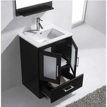 bathroom vanity set in espresso