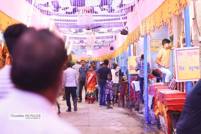 Street of sadipur during Durga puja